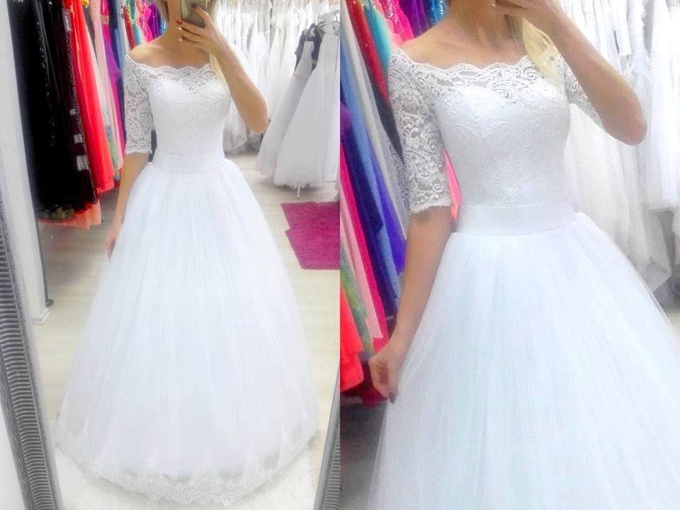 Be A Princess E Shop Svatebni Saty S Krajkovymi Rukavy